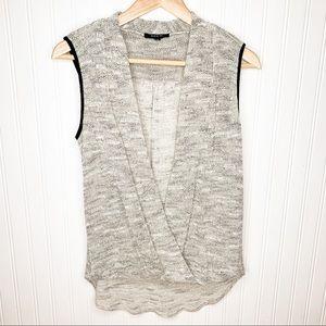 NEW Drew Surplice Wrap Sleeveless Sweater Top